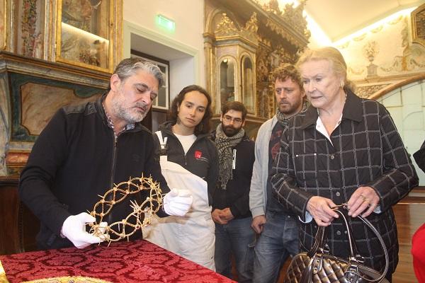 Visita de Sua Alteza Real, a Princesa Maria Gabriela de Saboia, ao Santuário do Senhor Santo Cristo